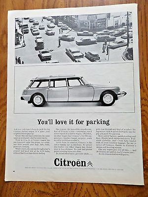 1963 Citroen Ad  the big Citroen Station Wagon