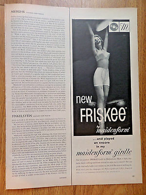 1959  Maidenform Girdle Ad New Friskee