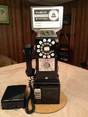 Western Electric 233G Black 3 Slot Rotary Dial Payphone with subset