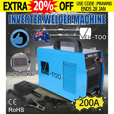 VEH-TOO MMA-200WD 200Amp DC iGBT Inverter Welder Portable Stick Welding Machine