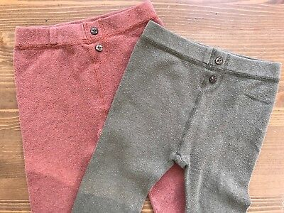 Neige Knit Sweater Pants Lot Of 2 Size 12-18-24 Months Great For Cloth Diapers!