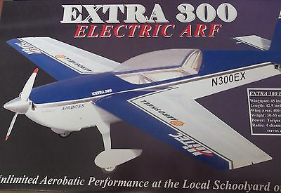 """RC PLANE EXTREME FLIGHT EXTRA 300 ELECTRIC ARF 45"""" / 114 cm. New in box"""
