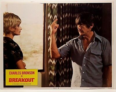 Breakout Charles Bronson Jill Ireland 1975 Columbia Movie Title Lobby Card #1