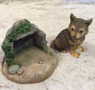 NIB 1996 Hamilton Collection Protect Nature's Innocents GRAY WOLF Sculpture