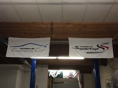 Carrera Super Cup flag banners ~ 917 911 GT3 Gt2 turbo racing le mans 3.0 iroc