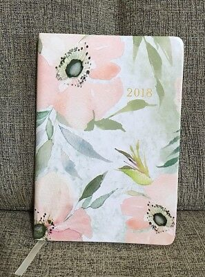 "Planner Monthly Weekly 2017-2018 Agenda Pastel Floral Smooth Cover, 7.7"" X 5.2"""