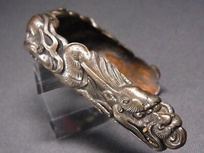 "SUPERB SAYAJIRI (KOJIRI) 18-19thC Japanese Edo Antique fitting ""Dragon"" e136"