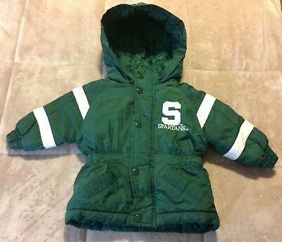 Michigan State Spartans Baby Toddler Jacket Waterproof Winter Coat Size 12 Month