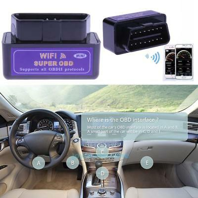 Super WiFi OBD2 Car Vehicle Diagnostic Scanner Scan Tool for iOS Android Windows