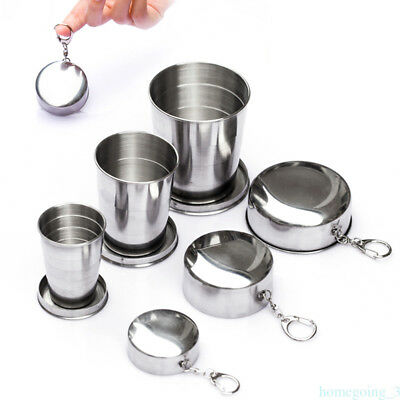 60/150/250ML Stainless Steel Portable Outdoor Travel Folding Collapsible Cup