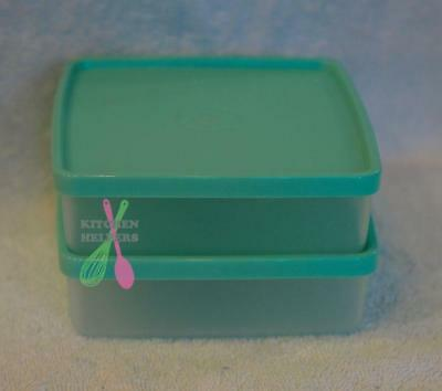 Tupperware Square Away /Round Storers / Sandwich Keeper x 2 -New - Mint Green