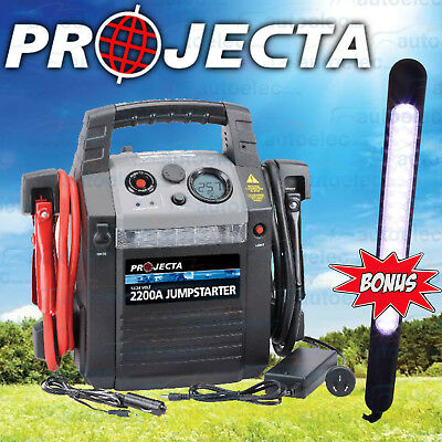 PROJECTA BATTERY JUMP STARTER 2200A AMP JUMPSTARTER  HP2200 12v 24v + BONUS LED