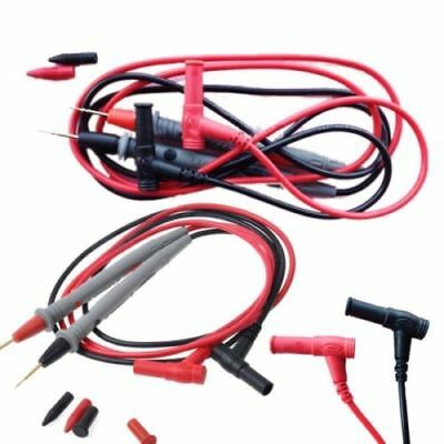 Needle Tipped Tip Multimeter Probes Test Leads Tester 1000V 10A 90cm Cable YG