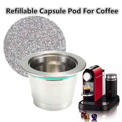 Reusable Refillable Metal Capsule Pod + Film For illy Coffee Nespresso Machine