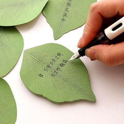 Green Note Paper Creative Leaf Notebook Marker Sticker Memo Pad Sticky Notes