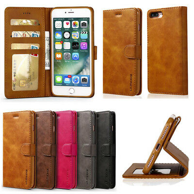 New Luxury PU Leather Flip Wallet Card Slot Case Stand Cover For Various Phones