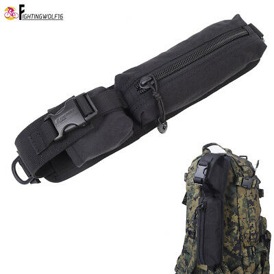 Backpack Shoulder Strap Accessory Pouch Rucksack Molle Tool Bag Hiking Climbing