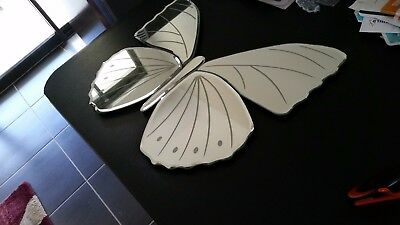 Etched butterfly wall mirror