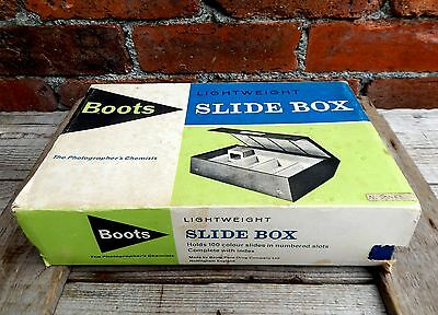 Vintage Boots Storage Case Box Photographic Photo Slides 35mm Capacity 100 #A