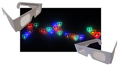 Rainbow Hearts Diffraction Glasses - 50 Pair - Paper Frames