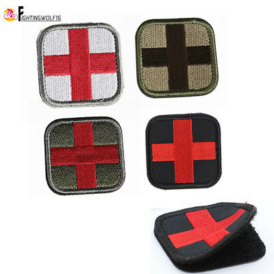 Medic Cross Patch Medical Decorative Appliques First Aid Badge Military Army EMT