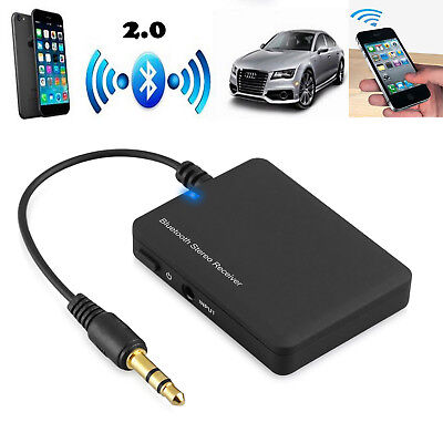 Wireless Bluetooth4.0+NFC Audio Stereo Music Receiver 3.5mm Car Aux Adapter A2DP
