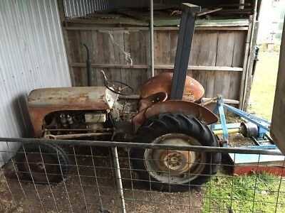 Grey Fergie Tractor + Implements including Slasher
