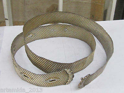 VERY RARE ANTIQUE OTTOMAN ERA SILVER BELT  HAND MADE 19 Century