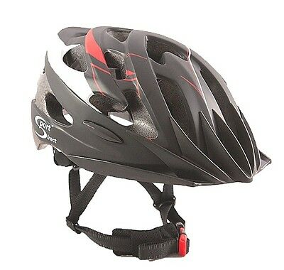 SPORT DIRECT Vento Adult Black & Red Cycle Helmet 58-61cm