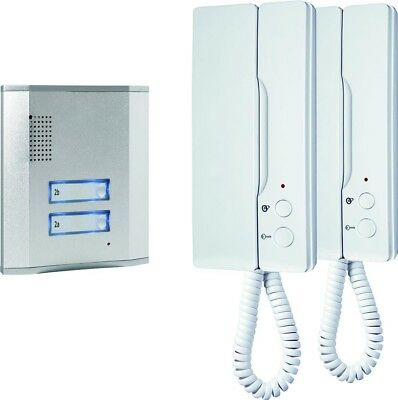 Smartwares IB62 Wired Audio Intercom System & 2 Phones | Silver & White