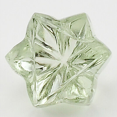 6 Cts Prasiolite (Green Amethyst) 11X11 mm Star Cut Loose GemstoneDG190GA
