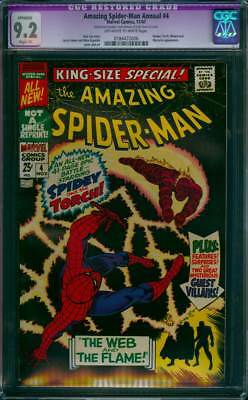 Amazing Spider-Man Annual # 4  The Web and the Flame !  CGC 9.2  scarce book !