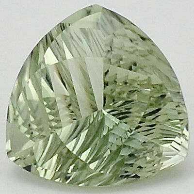 9.15 Cts Prasiolite (Green Amethyst) 14.5X14.5 mm Trillion Cut GemstoneDG326GA