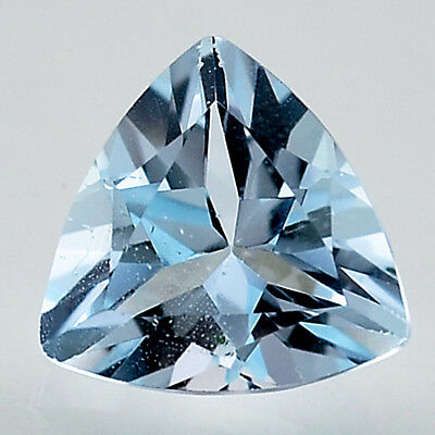 1.92 Cts Natural Sky Blue Topaz 8x8 mm Trillion Cut Loose Gemstone LSY1012