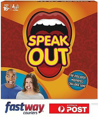Speak Out Funy Game Family Board Game Mouthguard Challenge Party Xmas Game