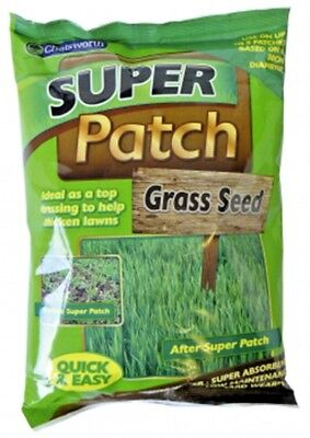 Super Patch Grass Seed Thicken Garden Lawn Quick Easy Hard Wearing - 200g