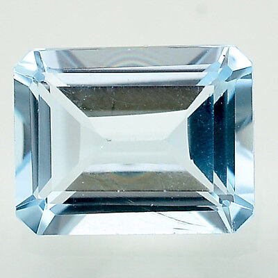 3.34 Cts Natural Sky Blue Topaz 8x10 mm Octagon Cut Loose Gemstone LSY1023