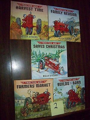"""LOT of 5 TRACTOR MAC HARDCOVER BOOKS BY BILLY STEERS NEW """"#2"""""""