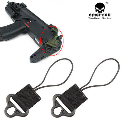 2PCS Emerson Tactical Sling Swivel Airsoft Shooting Weapon Gun Accessory Buckle
