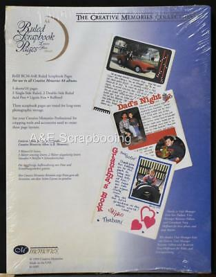 Creative Memories A4 Ruled Scrapbook Pages