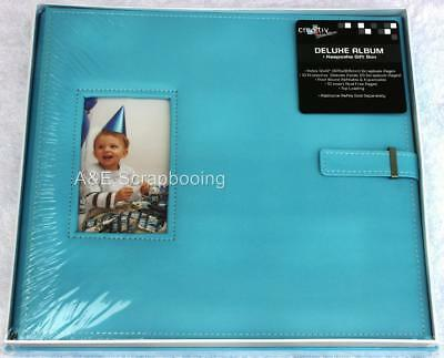 Cre8tiv Deluxe 12x12 Blue Window Frame Album