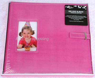 Cre8tiv Deluxe 12x12 Pink Window Frame Album