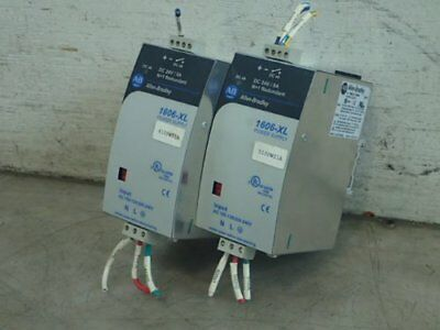 2 ALLEN BRADLEY 1606-XL120DR POWER SUPPLIES, 100-240 vac, 24 vdc