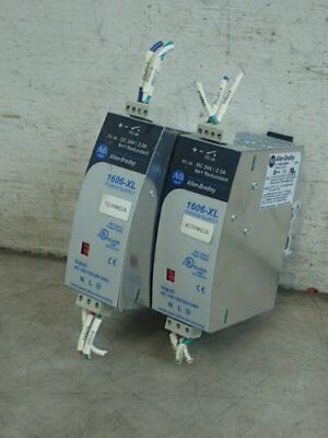 2 ALLEN BRADLEY 1606-XL60DR POWER SUPPLIES, 100-240 vac, 24 vdc