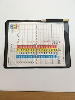 Golf scorecard holder with pencil