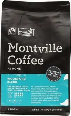 MONTVILLE COFFEE Woodford Plunger 250g