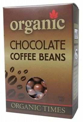 ORGANIC TIMES Milk Choc Coffee Bean 150g