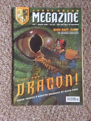 Judge Dredd Megazine Comic issue 51 March 1999