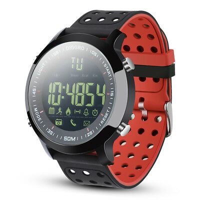 IP68 Impermeabile 5ATM Smart Watch Orologio da Polso Fitness per Android IOS BT