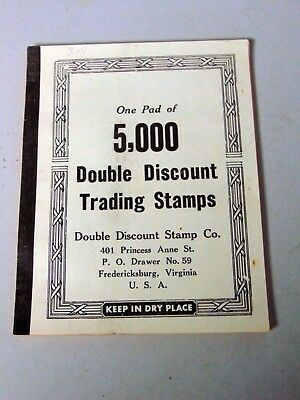 Full Book 5000 Double Discount Trading Stamps 10 Denomination FREE S&H Old Stock